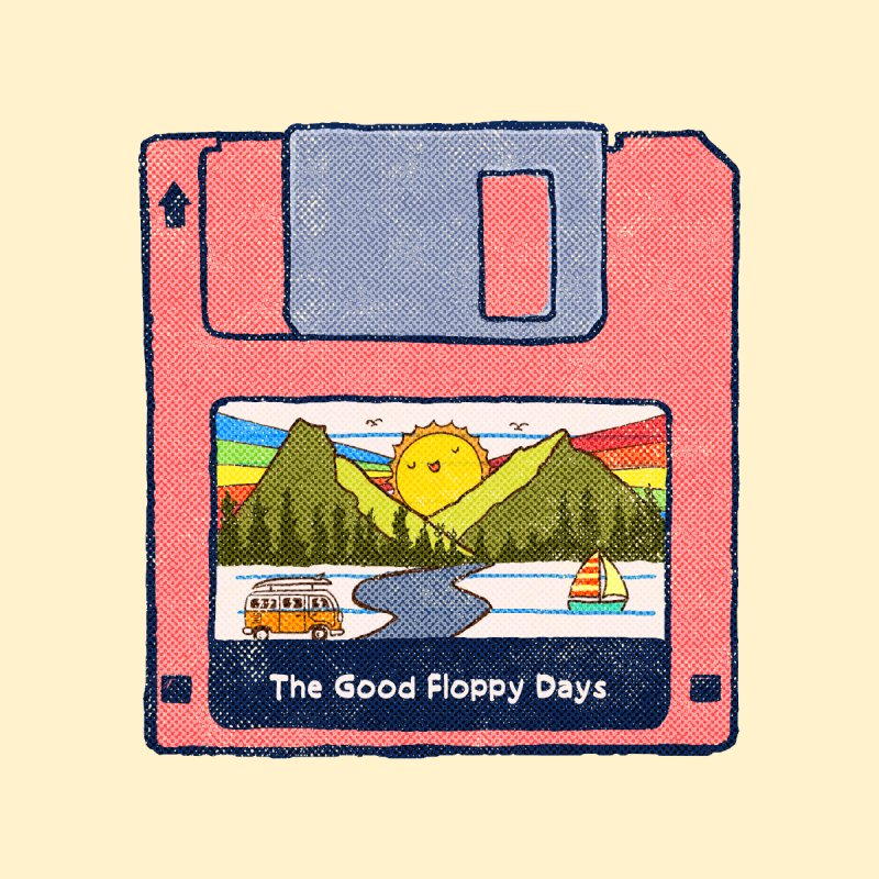 The Good Floppy Days Accessories Magnet by kooky love's Artist Shop