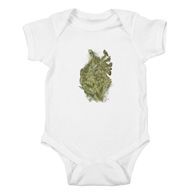 My Heart Will Go Green Kids Baby Bodysuit by kooky love's Artist Shop