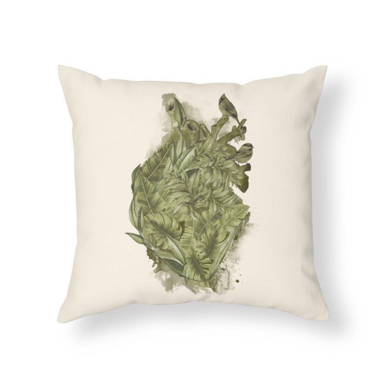 My Heart Will Go Green Home Throw Pillow by kooky love's Artist Shop