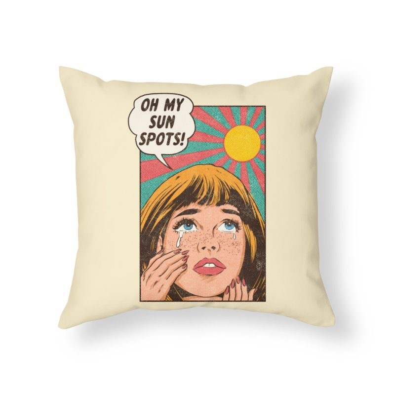 OH MY SUNSPOTS! Home Throw Pillow by kooky love's Artist Shop