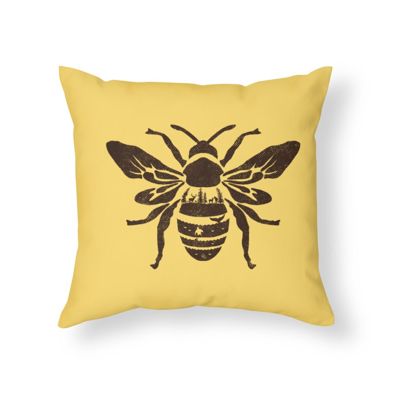 Save the bees plant more trees clean the seas Home Throw Pillow by kooky love's Artist Shop