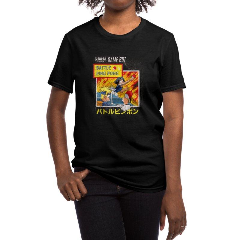 BATTLE PING PONG Women's T-Shirt by kooky love's Artist Shop