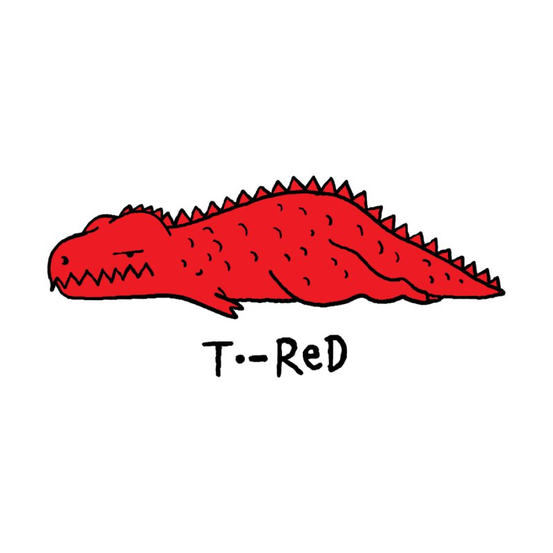 T-RED Accessories Greeting Card by kooky love's Artist Shop