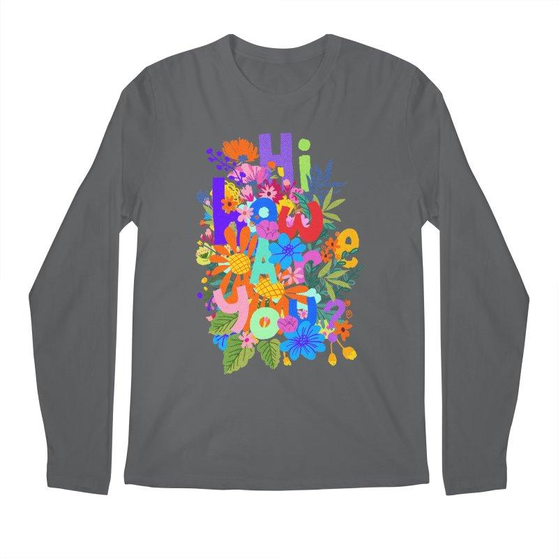 Hi how are you ? Men's Longsleeve T-Shirt by kooky love's Artist Shop