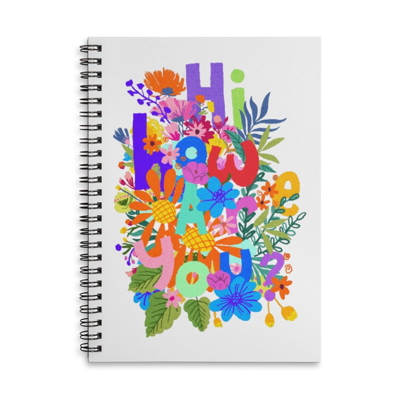 Hi how are you ? Accessories Notebook by kooky love's Artist Shop