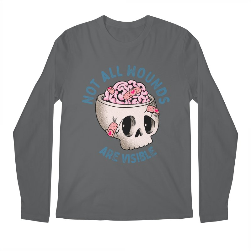 NOT ALL WOUNDS ARE VISIBLE Men's Longsleeve T-Shirt by kooky love's Artist Shop
