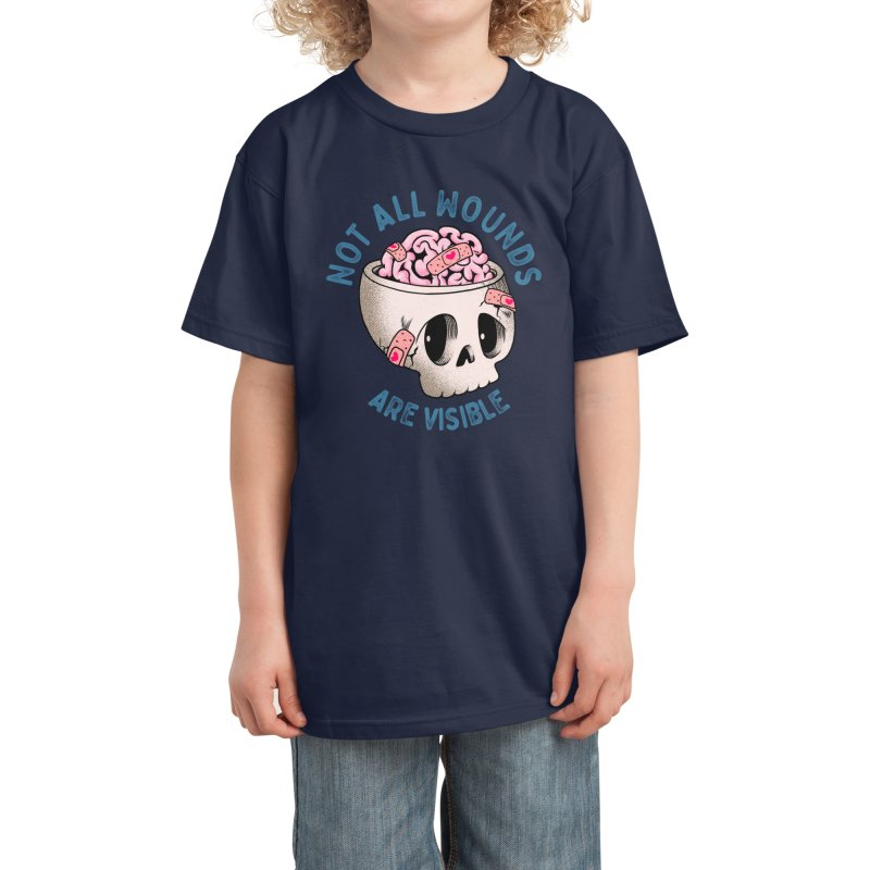 NOT ALL WOUNDS ARE VISIBLE Kids T-Shirt by kooky love's Artist Shop