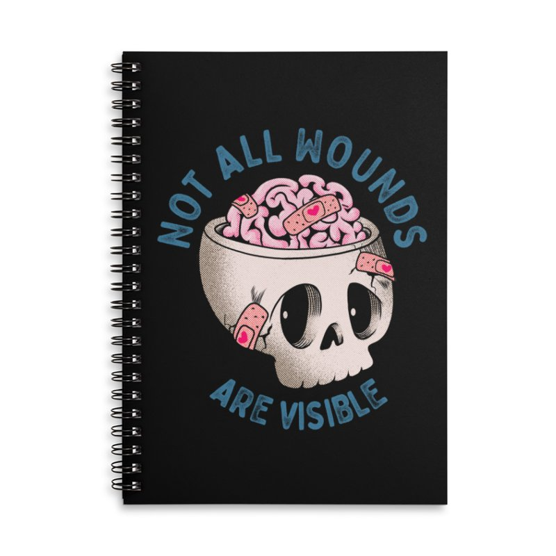 NOT ALL WOUNDS ARE VISIBLE Accessories Notebook by kooky love's Artist Shop