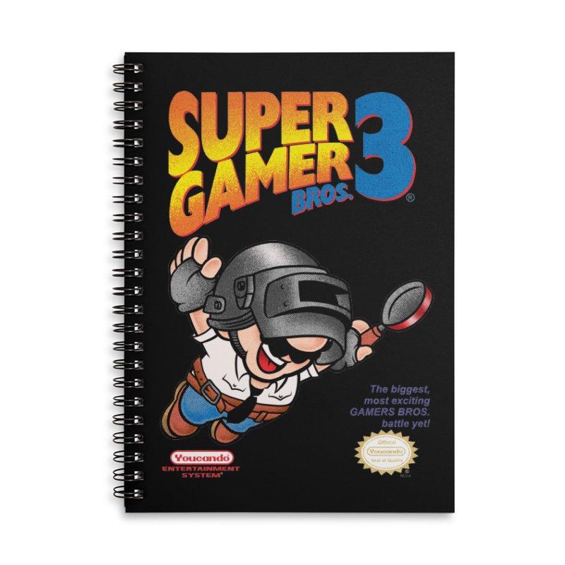 SUPER GAMER BROS Accessories Notebook by kooky love's Artist Shop