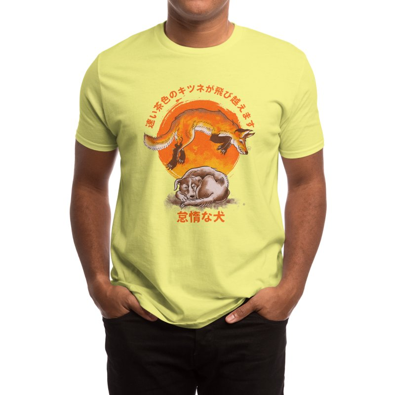 The quick brown fox jumps over the lazy dog Men's T-Shirt by kooky love's Artist Shop