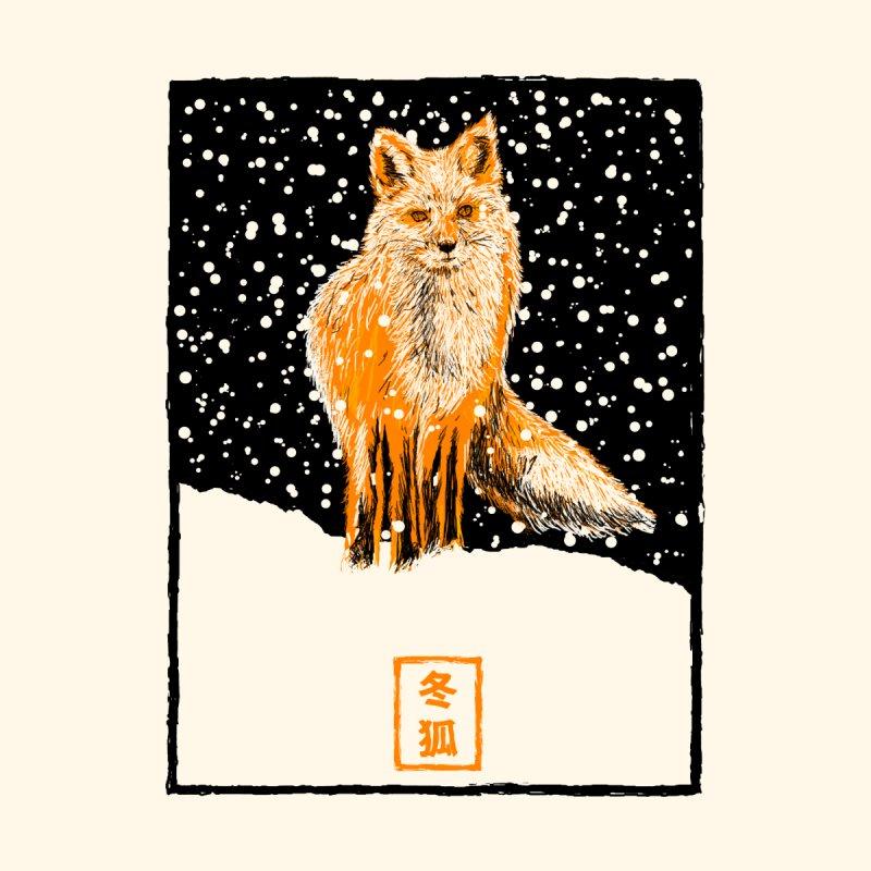 Winter Fox Men's T-Shirt by kooky love's Artist Shop