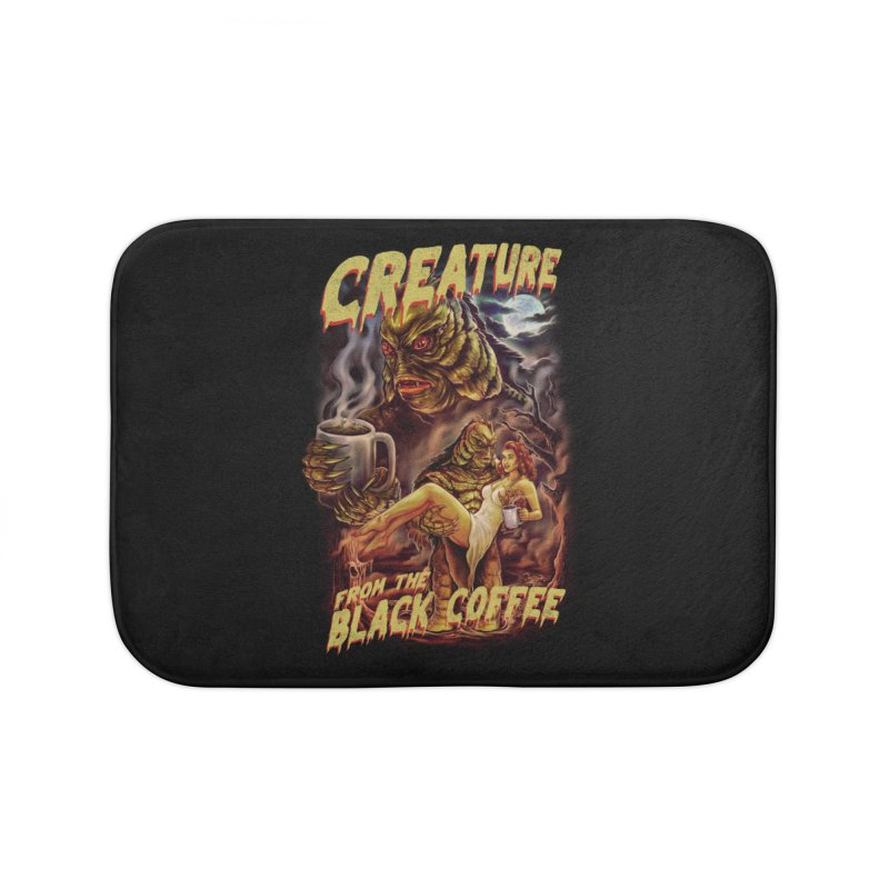 The Creature from the Black Coffee Home Bath Mat by kooky love's Artist Shop