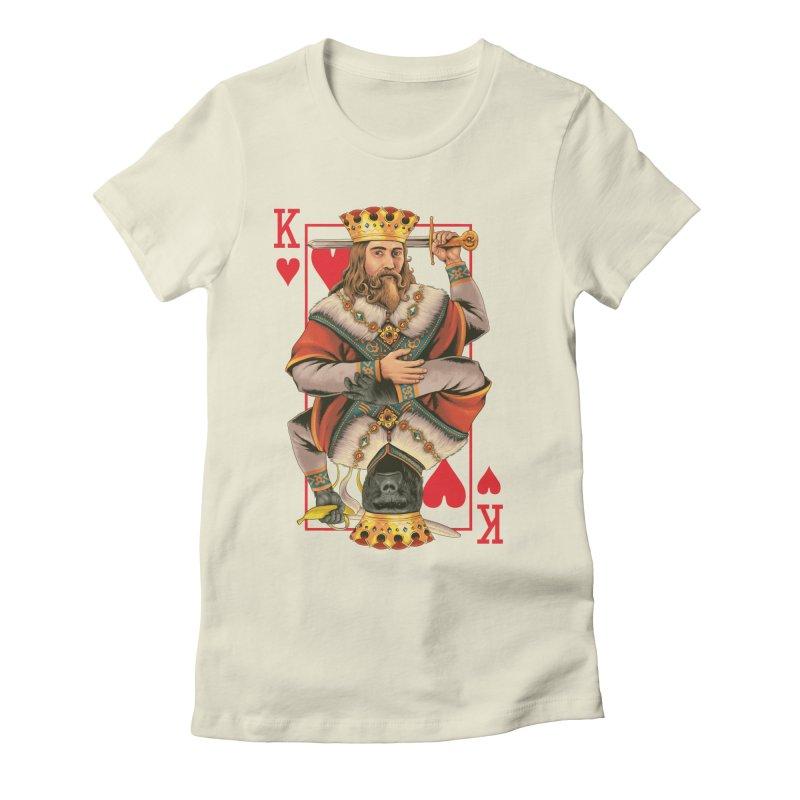 K  Women's Fitted T-Shirt by kooky love's Artist Shop