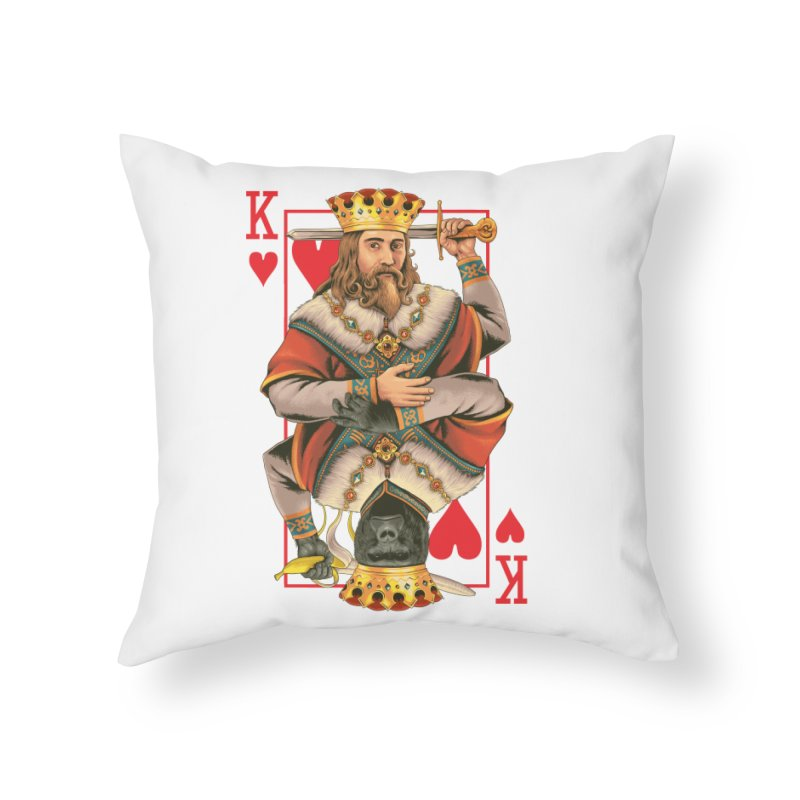 K  Home Throw Pillow by kooky love's Artist Shop
