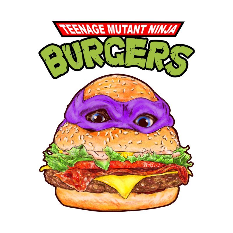 Ninja Burger Home Tapestry by kooky love's Artist Shop