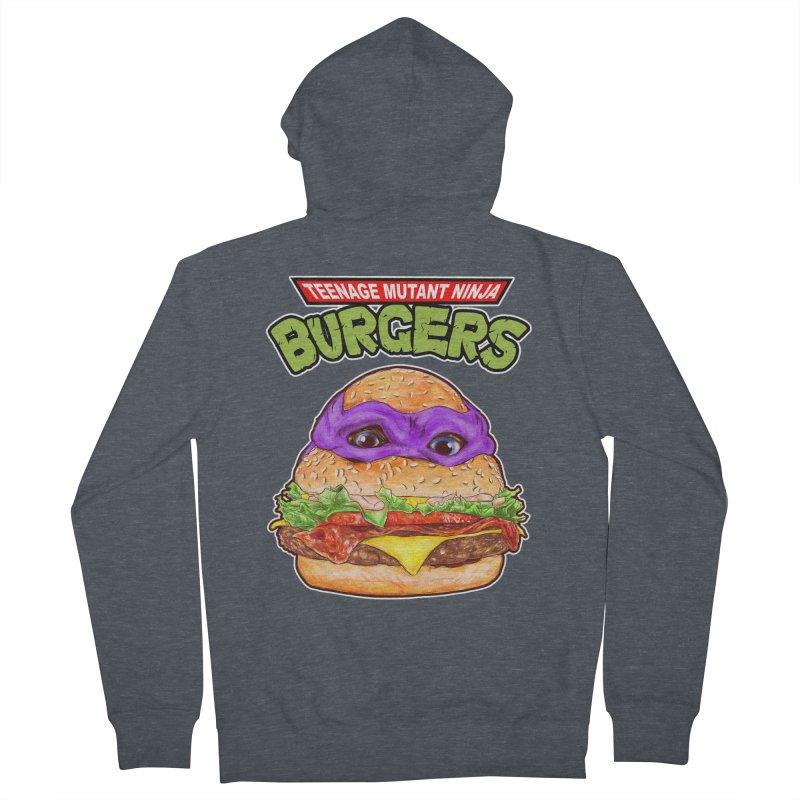 Ninja Burger Women's Zip-Up Hoody by kooky love's Artist Shop