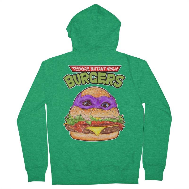 Ninja Burger Men's Zip-Up Hoody by kooky love's Artist Shop