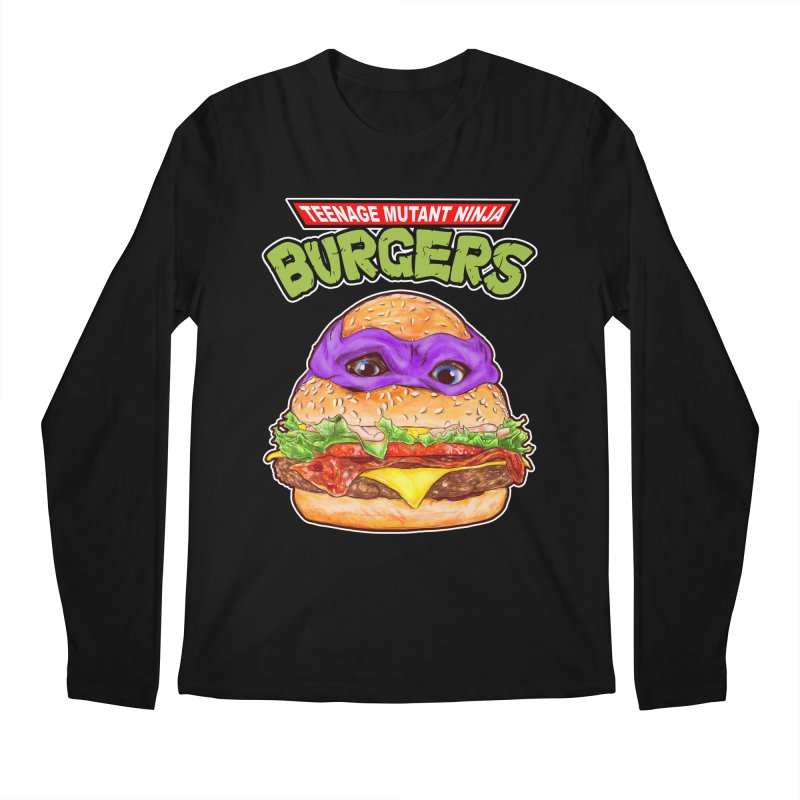 Ninja Burger Men's Longsleeve T-Shirt by kooky love's Artist Shop