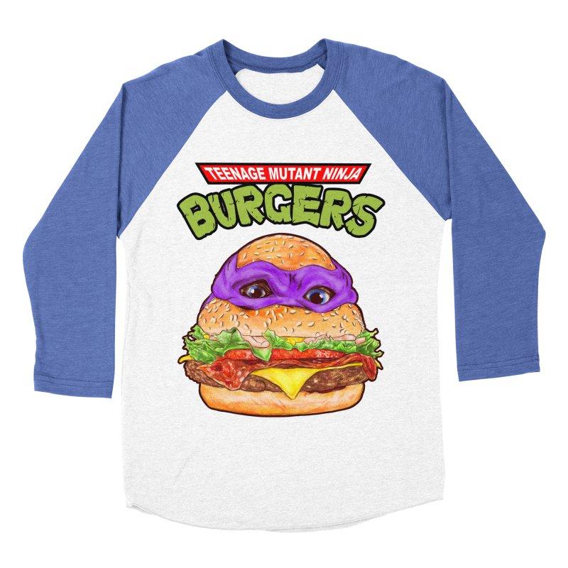 Ninja Burger Men's Baseball Triblend T-Shirt by kooky love's Artist Shop