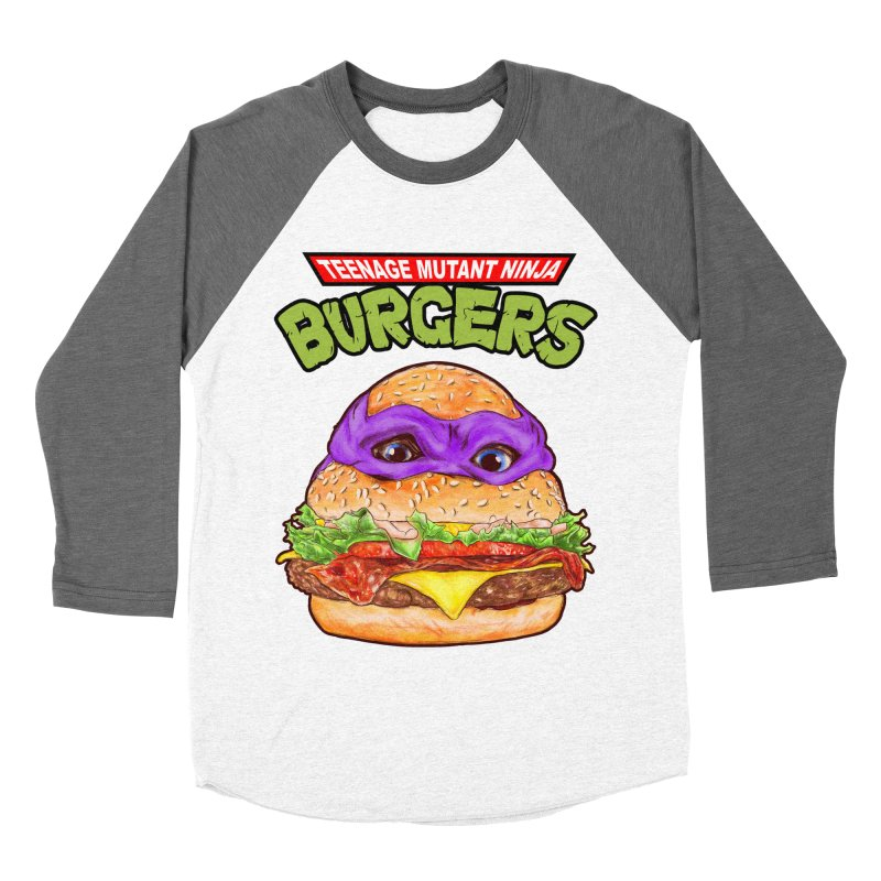 Ninja Burger Men's Baseball Triblend T-Shirt by kooky love's Artist Shop
