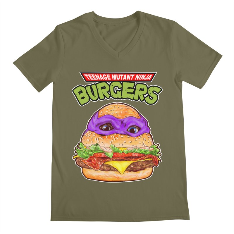 Ninja Burger Men's V-Neck by kooky love's Artist Shop