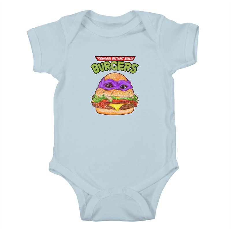 Ninja Burger Kids Baby Bodysuit by kooky love's Artist Shop