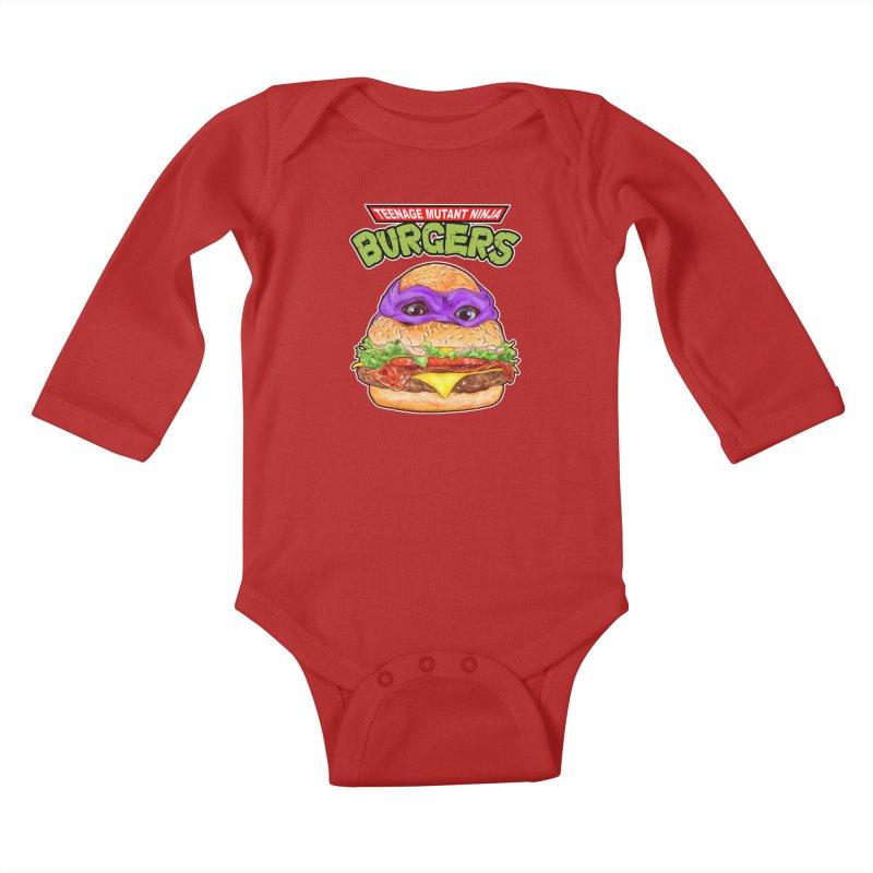 Ninja Burger Kids Baby Longsleeve Bodysuit by kooky love's Artist Shop