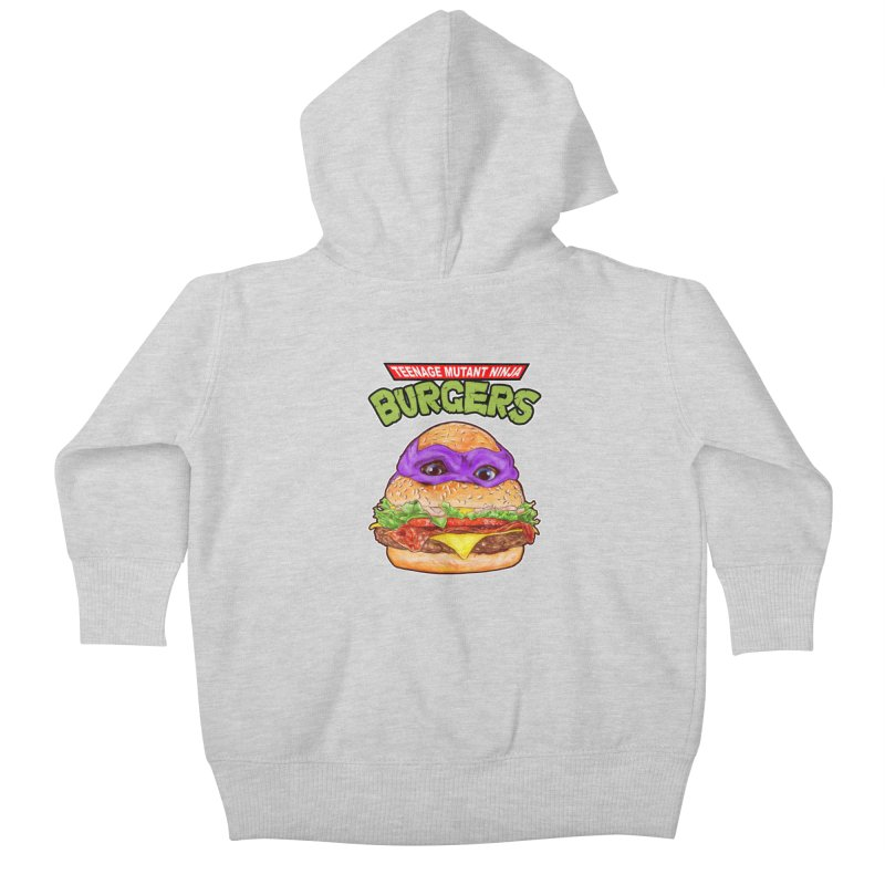 Ninja Burger Kids Baby Zip-Up Hoody by kooky love's Artist Shop
