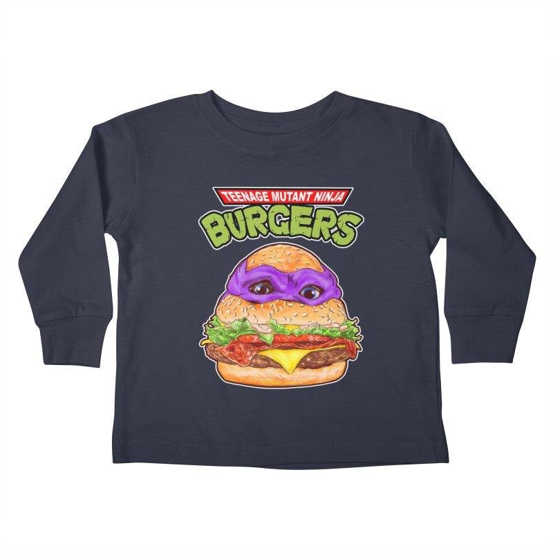 Ninja Burger Kids Toddler Longsleeve T-Shirt by kooky love's Artist Shop