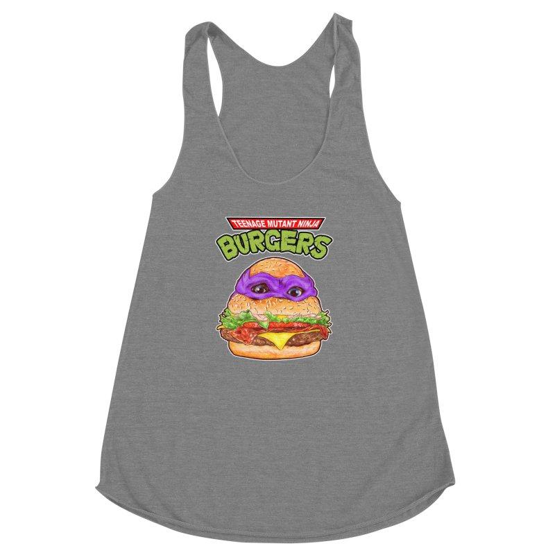 Ninja Burger Women's Racerback Triblend Tank by kooky love's Artist Shop