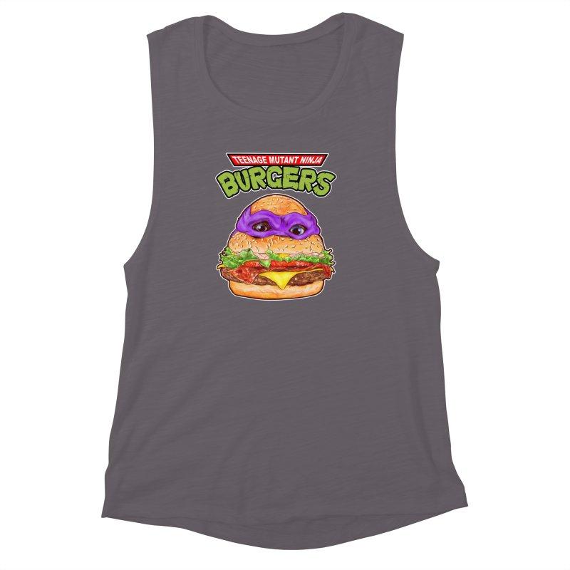 Ninja Burger Women's Muscle Tank by kooky love's Artist Shop