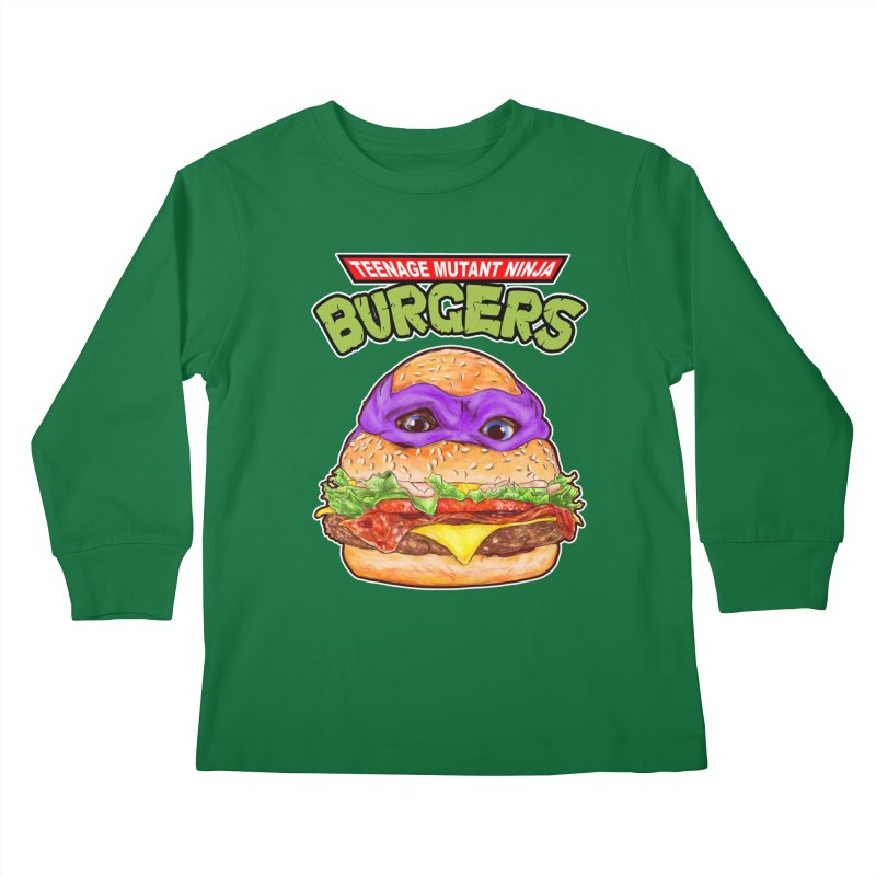 Ninja Burger Kids Longsleeve T-Shirt by kooky love's Artist Shop