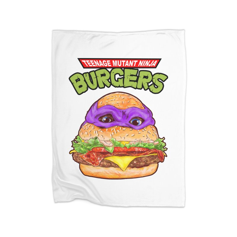 Ninja Burger Home Blanket by kooky love's Artist Shop