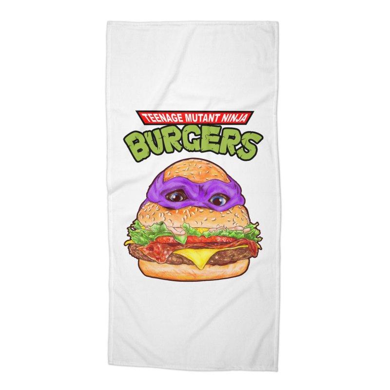 Ninja Burger Accessories Beach Towel by kooky love's Artist Shop