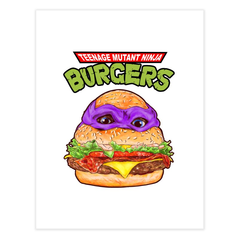 Ninja Burger Home Fine Art Print by kooky love's Artist Shop