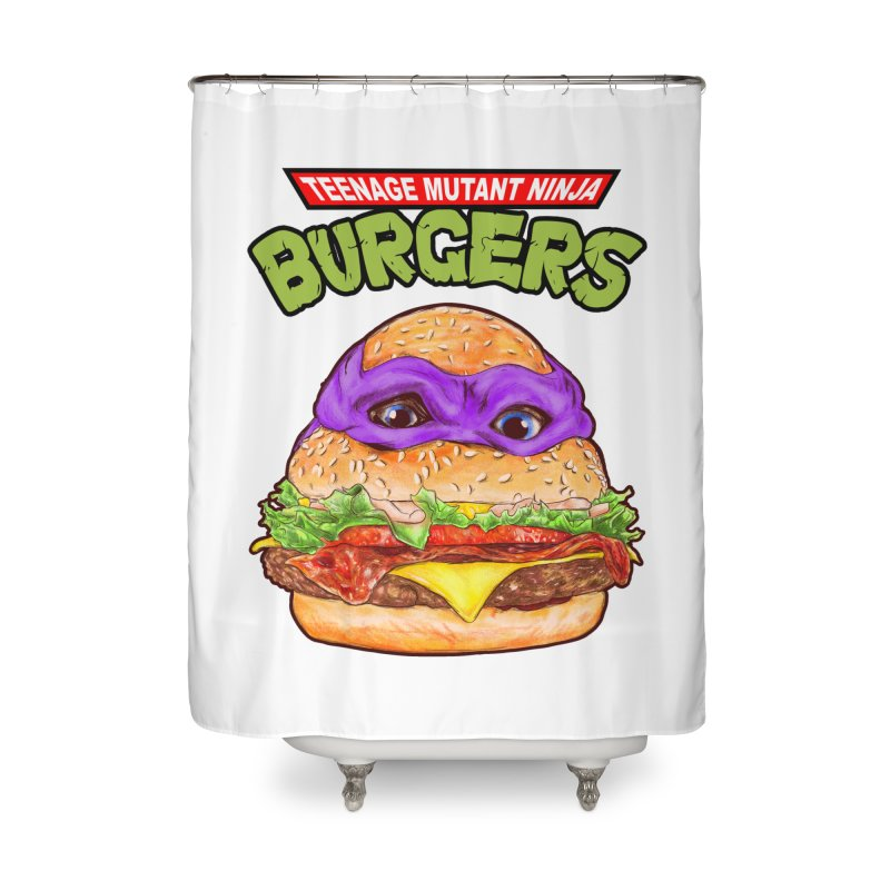 Ninja Burger Home Shower Curtain by kooky love's Artist Shop