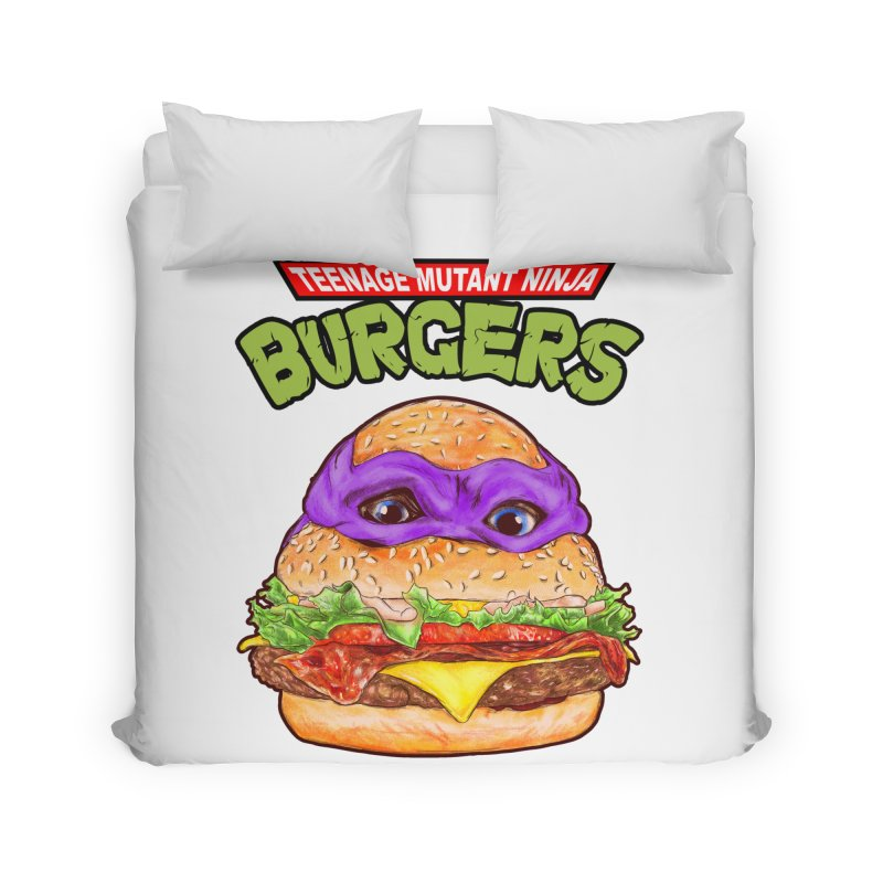Ninja Burger Home Duvet by kooky love's Artist Shop