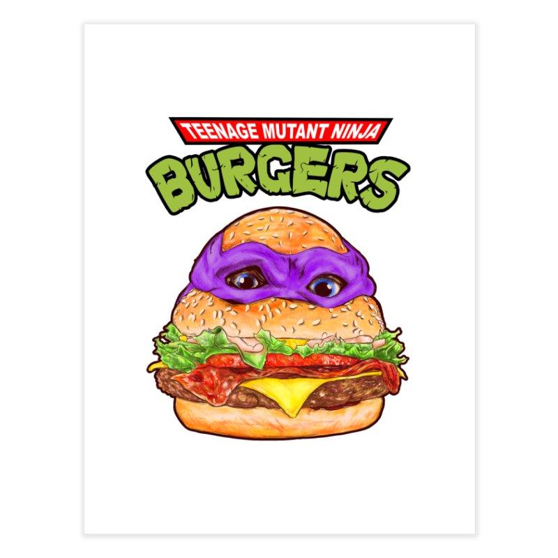 Ninja Burger Home Fine Art Print by kooky love's Artist Shop