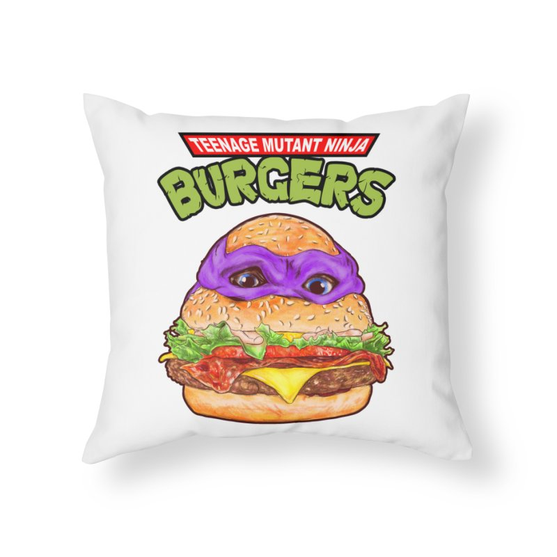 Ninja Burger Home Throw Pillow by kooky love's Artist Shop