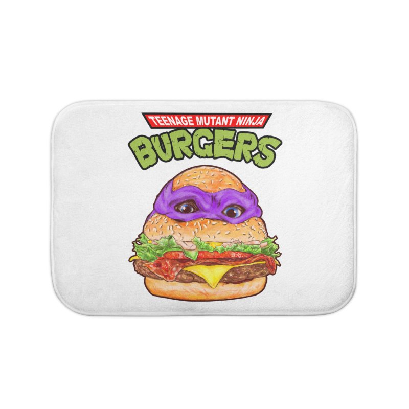 Ninja Burger Home Bath Mat by kooky love's Artist Shop