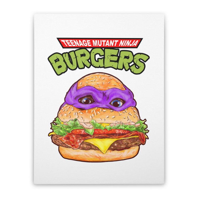 Ninja Burger Home Stretched Canvas by kooky love's Artist Shop