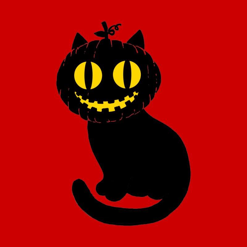 Pumpkin Cat Women's T-Shirt by kooky love's Artist Shop