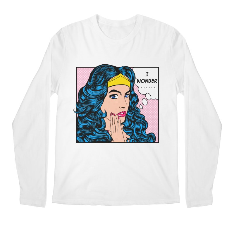 Wondering Woman Men's Longsleeve T-Shirt by kooky love's Artist Shop