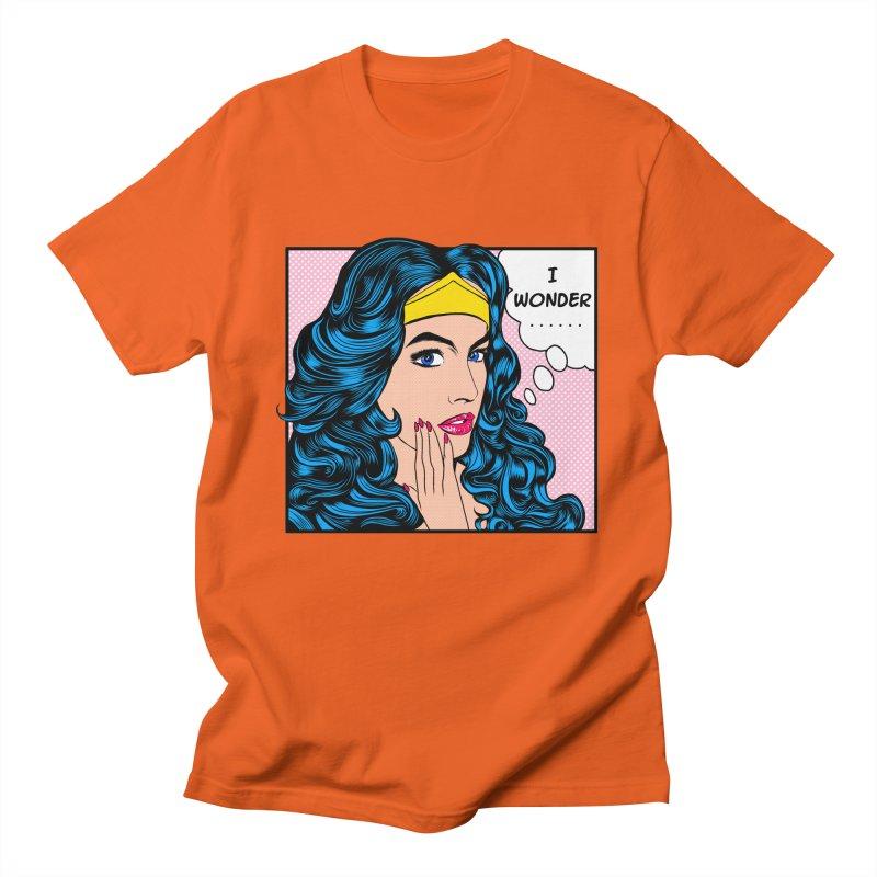 Wondering Woman Men's T-shirt by kooky love's Artist Shop