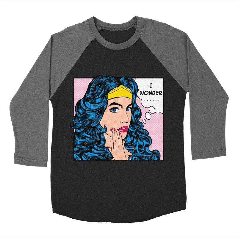 Wondering Woman Men's Baseball Triblend T-Shirt by kooky love's Artist Shop
