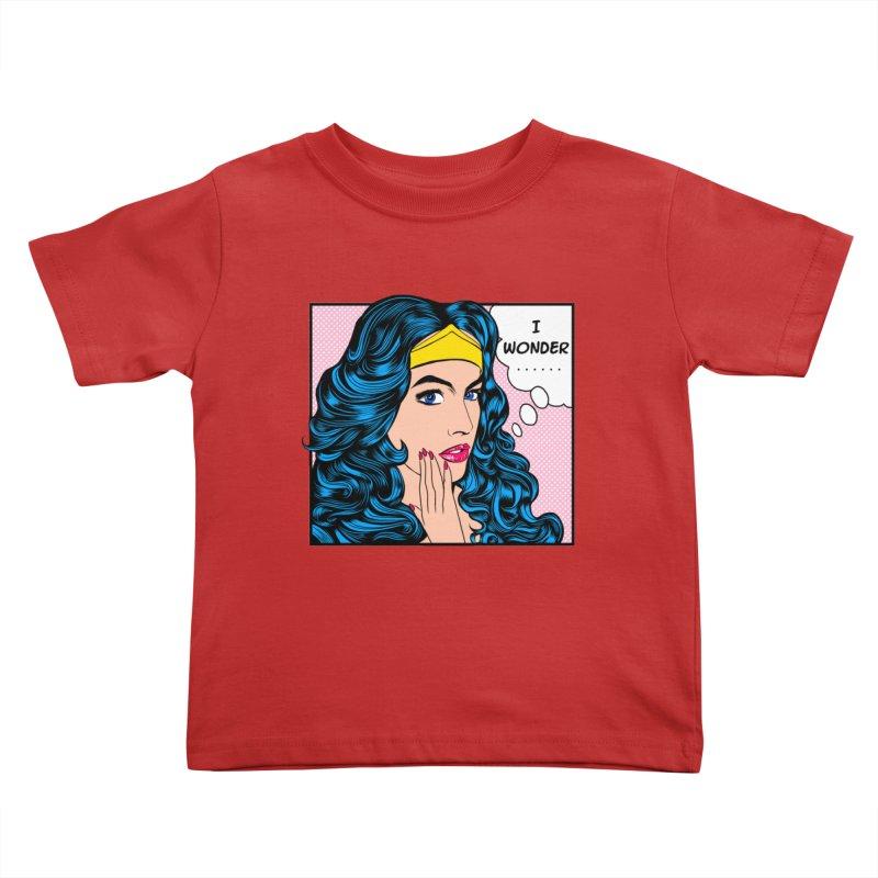 Wondering Woman Kids Toddler T-Shirt by kooky love's Artist Shop