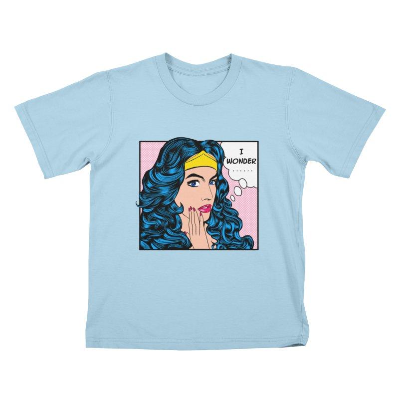 Wondering Woman Kids T-shirt by kooky love's Artist Shop