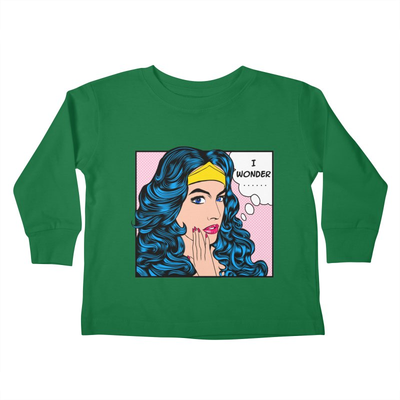 Wondering Woman Kids Toddler Longsleeve T-Shirt by kooky love's Artist Shop