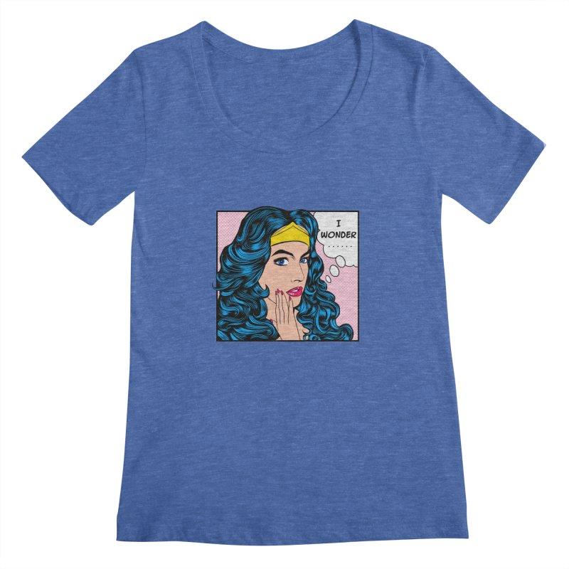Wondering Woman Women's Scoopneck by kooky love's Artist Shop