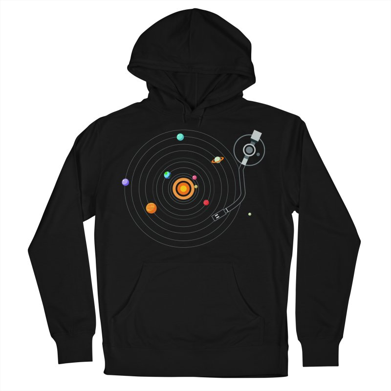 OUR SOLAR SYSTEM IS A VINYL Men's Pullover Hoody by kooky love's Artist Shop